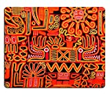 Liili Mouse Pad Natural Rubber Mousepad Beautiful blanket with a typical Peruvian design Photo 5121126