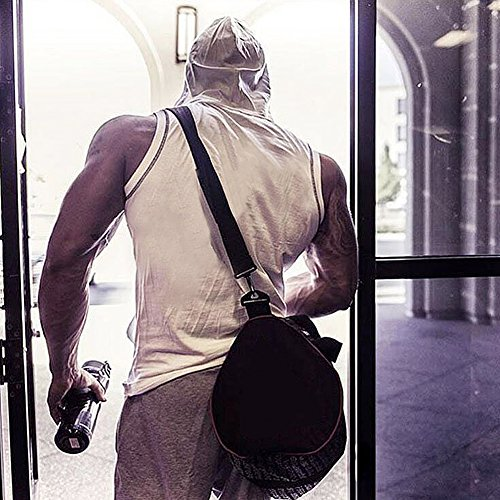 Ouber Men's Gym Workout Sleeveless Hoodie Tank Top Vest