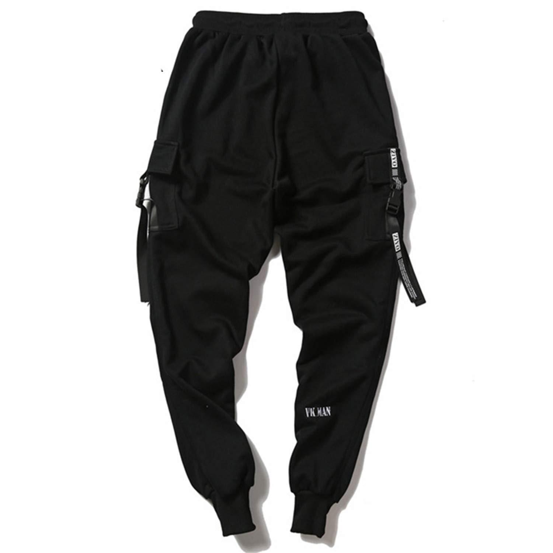 Button Pocket Sweatpant Men Fashion Hiphop Casual Pant Jogger Outwear Hip Hop Harem Pant B4816625 L
