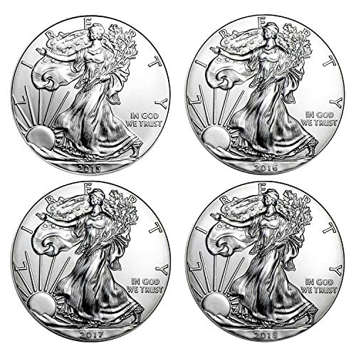 2015-2018 American Silver Eagle - 4 Coin Set With Brilliant for sale  Delivered anywhere in USA
