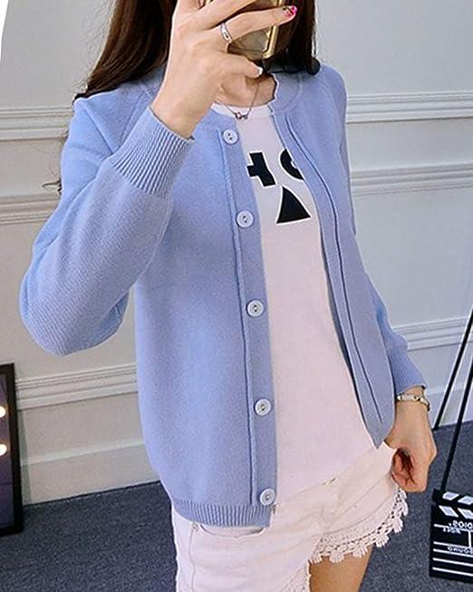 ShiFan Donna Cardigan in Maglia A Manica Lunga con Bottoni Elegante Giacca Corto