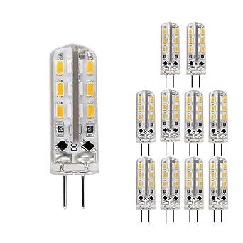 LE Bombilla LED G4 1.5 vatios, 12 V DC, equivalente a una bombilla halógena