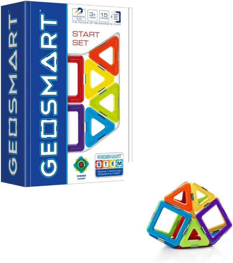 GeoSmart Start Set 15 Piece GeoMagnetic STEM Construction Kit for Ages 3+