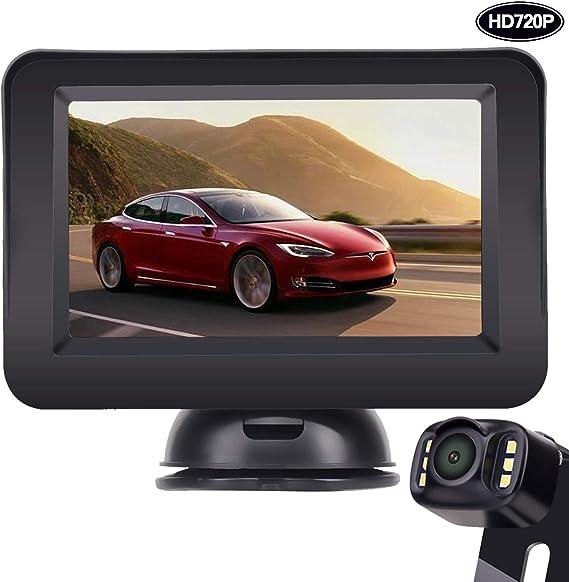 LeeKooLuu Backup Camera and Monitor Kit HD 720P Easy Installation for on