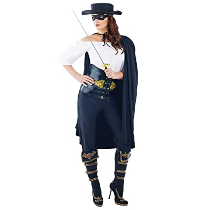 ed41b260f0eec Masked Senorita Ladies Costume Spanish Zorro Mexican Adults Fancy ...