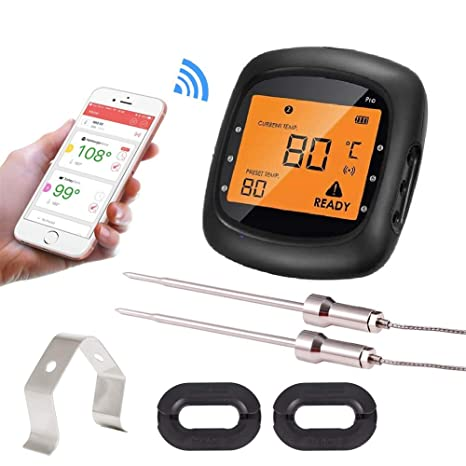 Amazon.com : Bridge Bluetooth Digital Cooking Food Thermometer Smoker Grill BBQ Thermometer Pro05 Android iPhone APP Intelligent Controlled-Two Multi-Probe ...