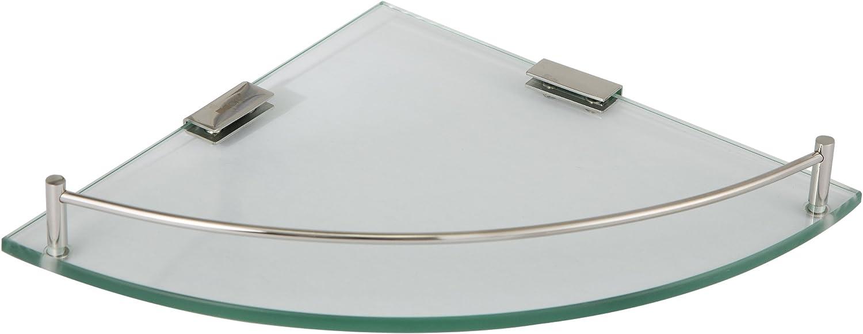 """Ucore Inc 10"""" Glass Corner Shelf"""