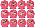 Personalized Text on Brand New Pink Golf Balls 1 Dozen - Packaged in 3 Ball Sleeves - Makes Great Gift