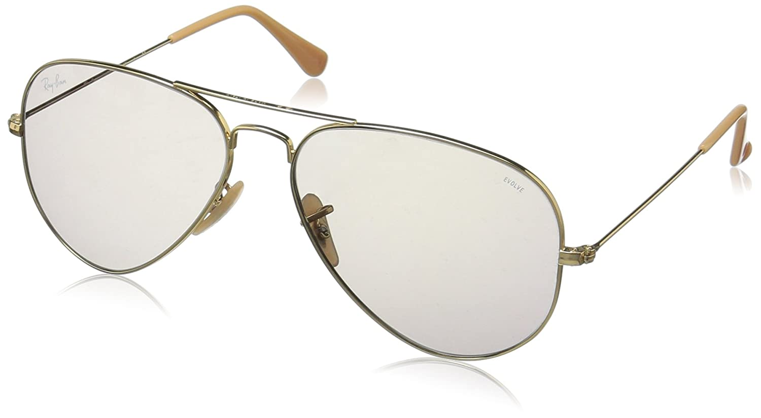 1d600033c94 Amazon.com  Ray-Ban Aviator Evolve RB3025-9064V8 Sunglasses Gold w ...