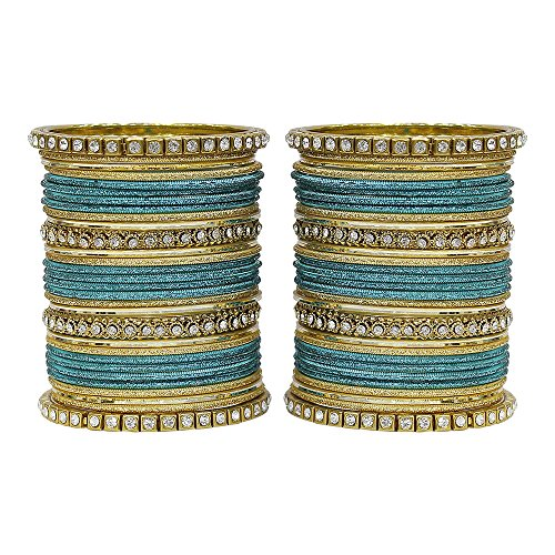 MUCH-MORE Fabulous Collection of Multi Color Crystal Bangles Set Indian Jewellery for Women's (Radium, 2.6)