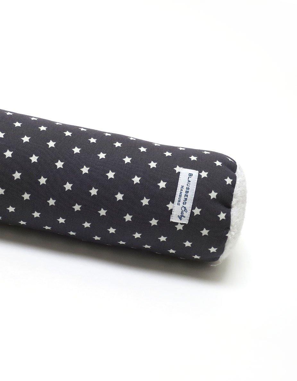 Blausberg Baby - Bettschlange Nestchen Bettumrandung Kantenschutz Kopfschutz für Baby- und Kinderbett Anthrazit Dunkelgrau Stern (70 cm) - Materialien OEKO-TEX® Standard 100 zertifiziert - 100% made in Hamburg