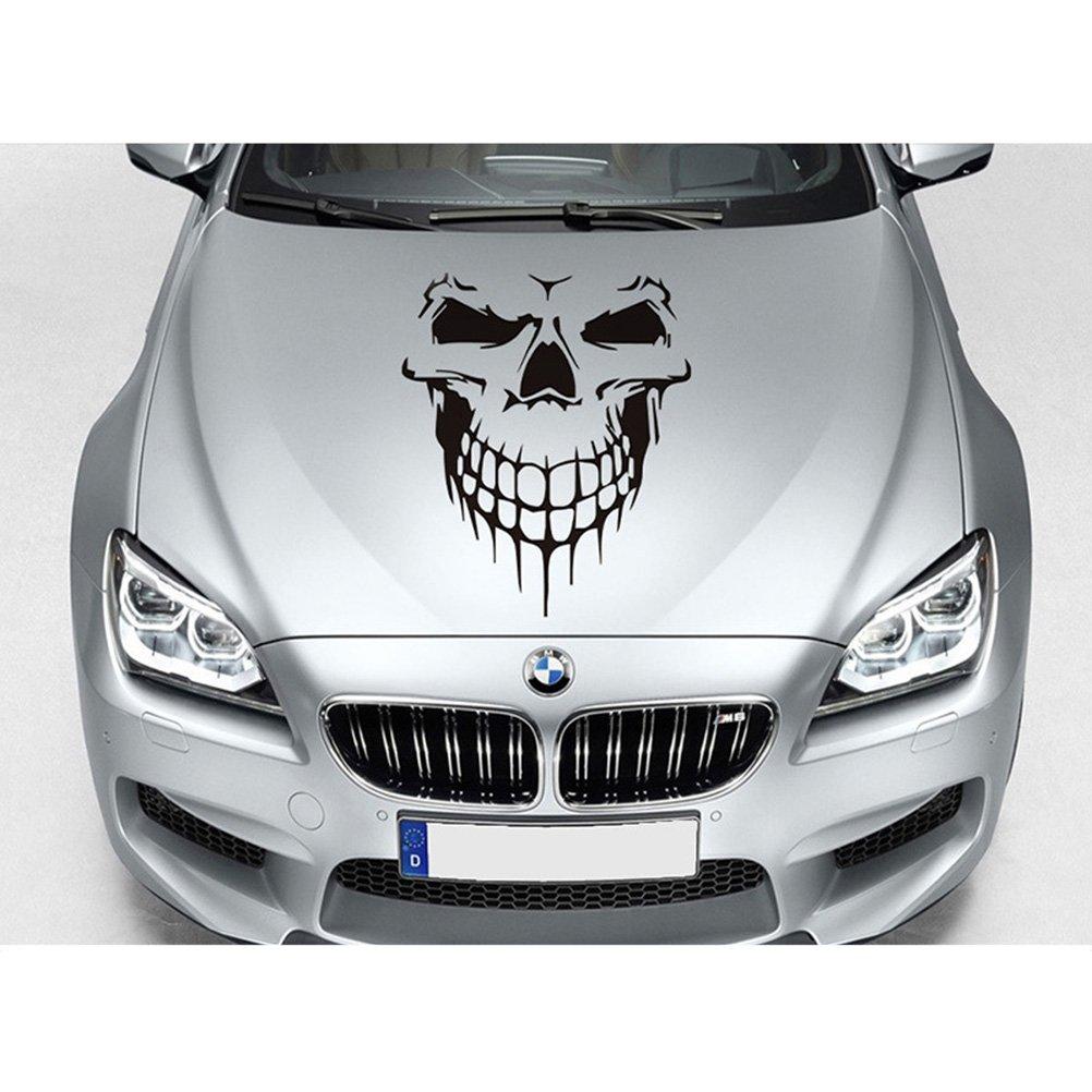 WINOMO Auto Aufkleber Autotattoo Totenkopf Skelett Gro/ßer dekorativer Sticker Schwarz