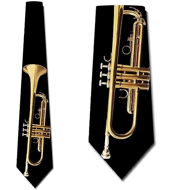 Corbatas de música para hombre Jazz Brass trompeta corbata de ...
