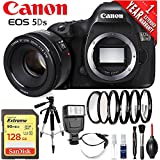 Canon EOS 5DS DSLR Camera (Body Only) International Version (No Warranty) w/Canon 50mm EF Lens Portrait Starter Kit