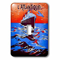 Vintage Art Deco Travel L Atlantique Pochoir 1930s Transatlantic Cruise Light Switch Cover is made of durable scratch resistant metal that will not fade, chip or peel. Featuring a high gloss finish, along with matching screws makes this cover...