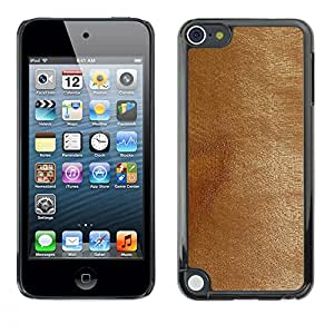 For Apple iPod Touch 5 - Tanned Brown Leather Imitation /Modelo de la piel protectora de la cubierta del caso/ - Super Marley Shop -
