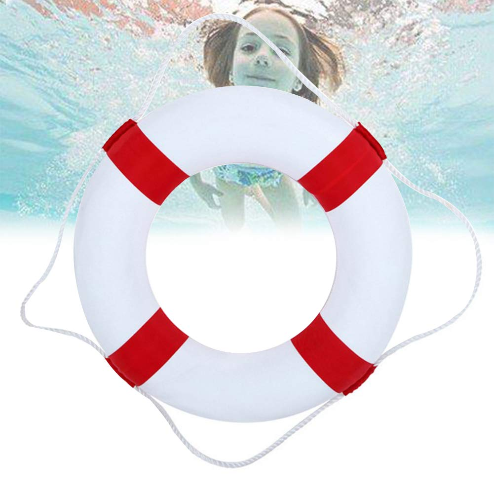 Kriszon 52cm 20.5inch Diameter Welcome Cloth Decorative Life Ring Buoy Home Wall Nautical Decor Safety Life Preserver with Perimeter Rope 1Pack Red by Kriszon