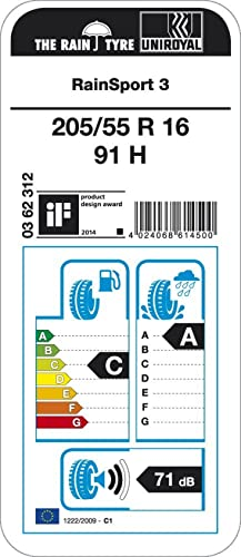 PKW C//A//71 Uniroyal RainSport 3-225//45 R17 91V Sommerreifen