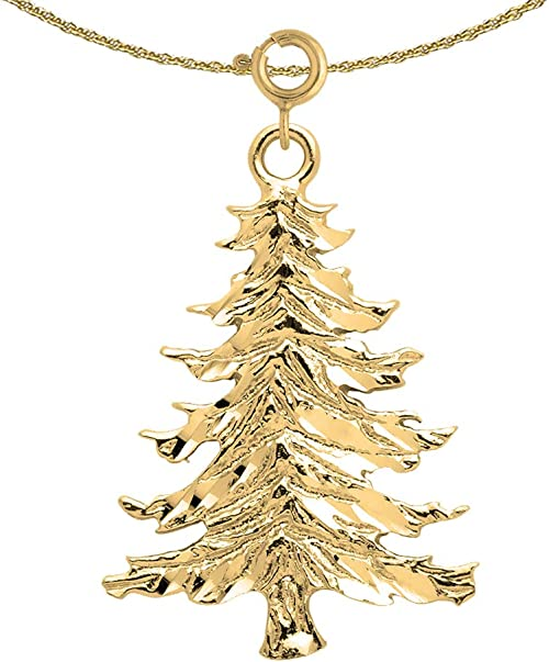 Jewels Obsession Christmas Ornament Necklace 14K Yellow Gold-plated 925 Silver Christmas Ornament Pendant with 18 Necklace
