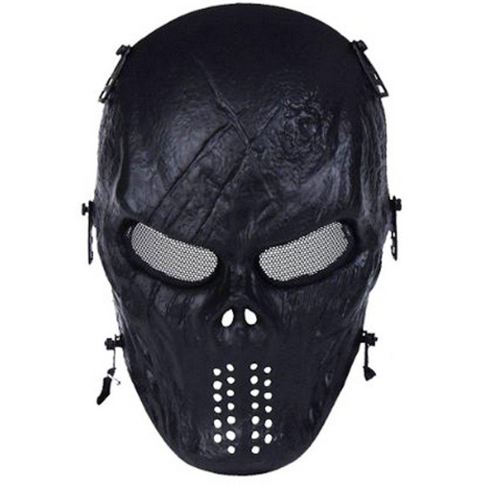 Amazon.com : Walking Man Full Face Airsoft Mask with Metal Mesh ...