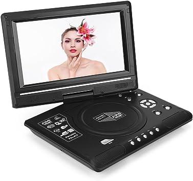 Reproductor de DVD portátil, vbestlife con 270 ° Pantalla Giratoria integrado batería recargable 9.8