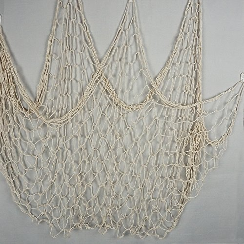 Bilipala Fishing Net Decor,Fishing Net, Wall Hangings Decor,Mediterranean Style Photographing Decoration, Creamy White]()