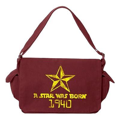 Tenacitee A Star Was Born 1940 Brushed Canvas Messenger Bag