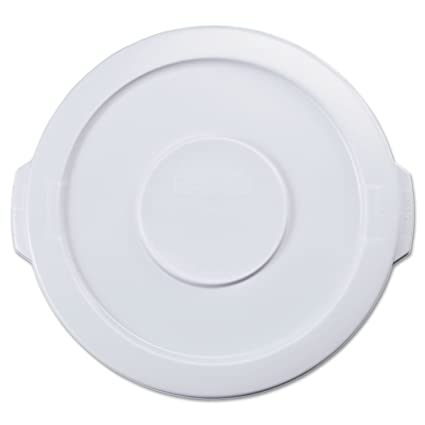 f3810fb9c29 Image Unavailable. Image not available for. Color  Rubbermaid 2609WHI Flat  Top Lid ...