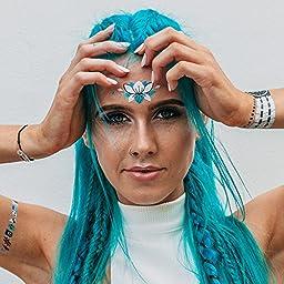 Premium Metallic Flash Tattoos - Space Mermaid Collection
