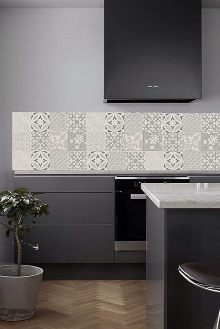 Vinyle crédence de cuisine fortement adhésive / contre marche d\'escalier et  pour revêtement mural adhésifs / dimensions & motifs au choix / Carreaux ...