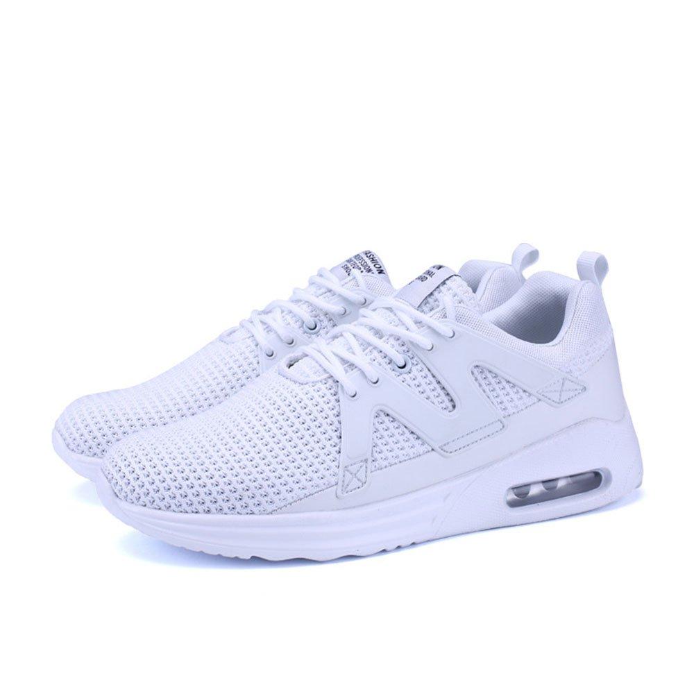 FLYMD Running Shoes Zapatos Casuales de Primavera/Verano, Ligeros y Transpirables de Malla (24.5-27.5cm) Sneakers for Men (Color : Blanco, tamaño : 39 1/3 EU) 39 1/3 EU|Blanco