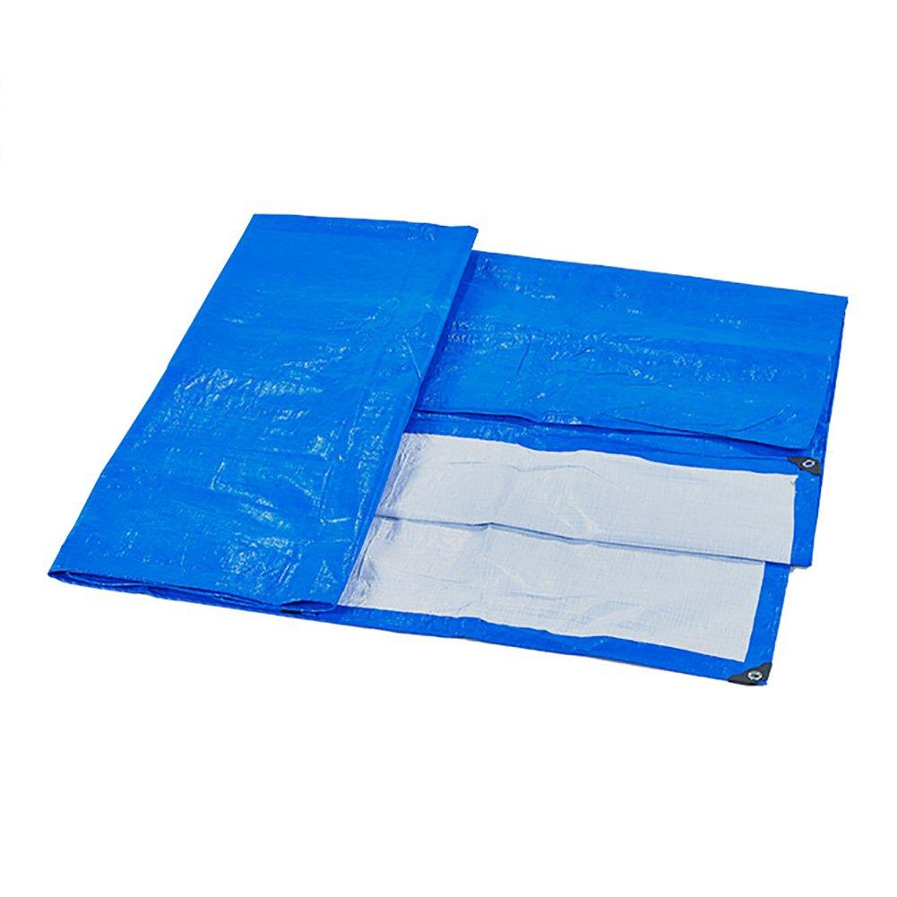 Plane Dreirad Abdeckung regendicht Kunststoff Tuch Schatten Sonnencreme Tuch LKW Blau und weiß Zelt (größe   5  7m)