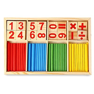 Shangjie Town Maikun Montessori Mathematical Intelligence Stick Preschool Educational Toys (Color: Multicolor): Toys & Games
