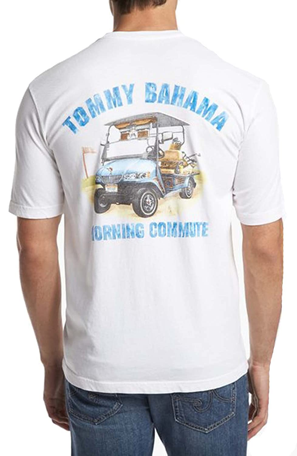 Tommy Bahama Morning Commute Large White T-Shirt
