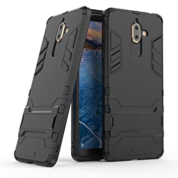 separation shoes 8ff02 c6ad0 Nokia 7 plus case,Stylish cover GOGME [Tough Armor Series]Rugged TPU/PC  Hybrid Armor, Anti-Scratch PC back panel + Shockproof TPU bumper+Foldable  ...