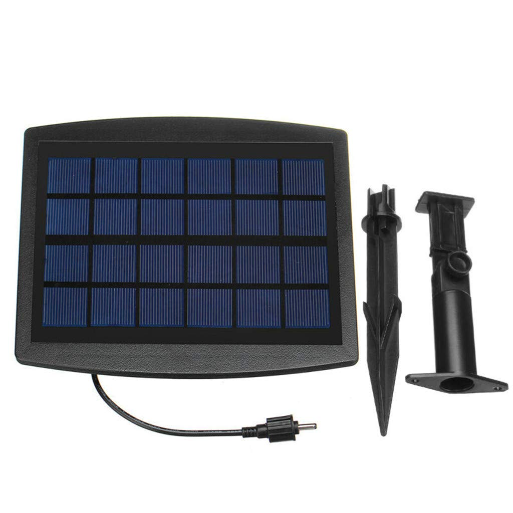 Kiorc Solar Powered Oxygenator Pond Water Oxygen Pump 2 Air Stone Aerator Fish Tank