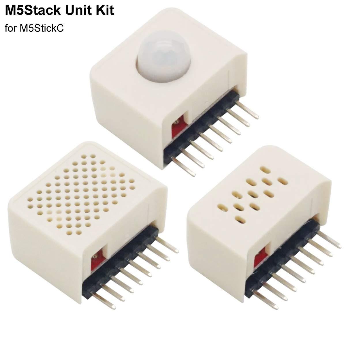 Kit de unidad M5Stack para M5StickC Hat ENV Hat PIR y Hat SPK Estación meteorológica y aplicación de brújula Sensor de i