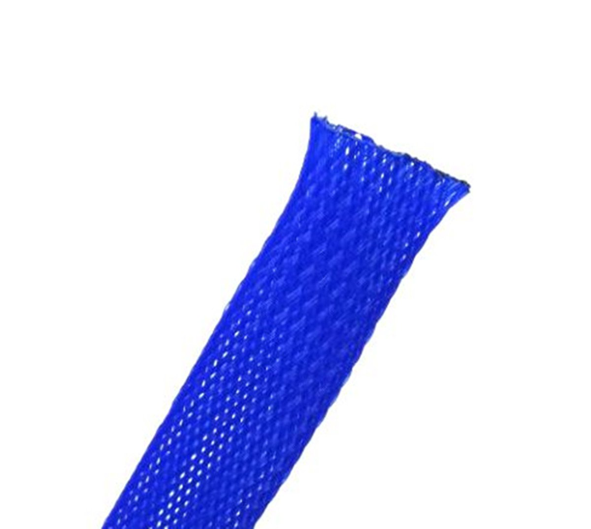 Wang-Data PET Blue Braided Cable Sleeve 1 inch X 100ft (1'' X 100')