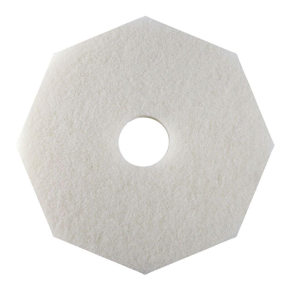 HUBERT Floor Polishing Pad Octagon White - 20''Dia 5 Per Case
