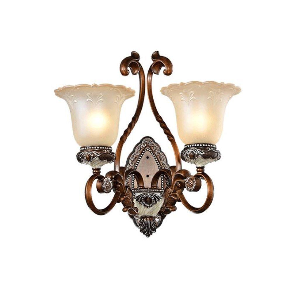 Lámpara de pared GAODUZI Lámpara de Sala Dormitorio Retro Lámpara de Noche Fondo clásico Palacio de Lujo Estilo E27 (Tamaño : 55cm): Amazon.es: Hogar