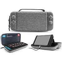 IFORU Funda para Nintendo Switch, Estuche de Transporte para Consola Nintendo Switch Espacio para Joy-con, Bolsa Transporte Portátil 18 Cartuchos de Juegos para Nintendo Switch Console Pro Controller