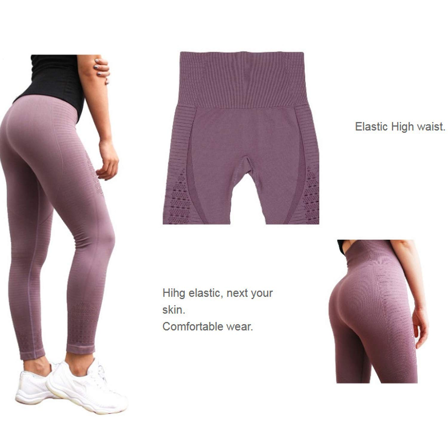 062f792719588b Amazon.com: High Waisted Yoga Pants Shark Gym Seamless Leggings High  Elastic Exercise Tights Women Pants for Fitness Yoga Running Sports:  Clothing