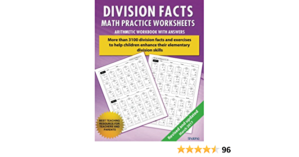 Division Facts Math Practice Worksheet Arithmetic Workbook With Answers:  Daily Practice Guide For Elementary Students And Other Kids (Elementary  Division Series) (Volume 1): Shobha: 9781536971477: Amazon.com: Books