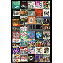 THE BEATLES POSTER Amazing Singles Vinyl Records Collage RARE HOT NEW 22x34