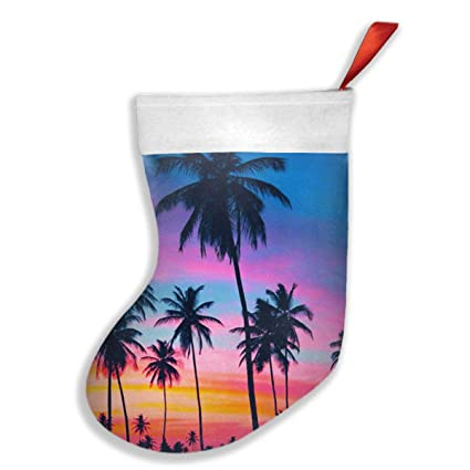 New Tropical Palm Tree Wallpaper Xmas Christmas Stockings Party Mantel Decorations Ornaments For Decoration Kids