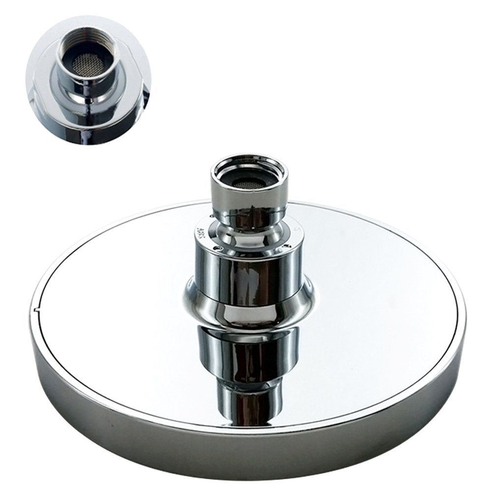 Basong High Pressure Flow Fixed Chrome Luxury Spa Chrome Shower Head Adjustable Metal Swivel Ball Joint Removable Water Restrictor Easy Installation(8 Inches) by Basong (Image #4)
