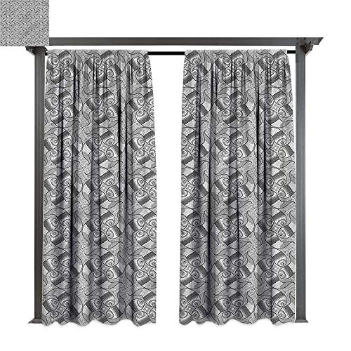 cobeDecor Thermal Insulated Drapes Ethnic Middle Eastern Heritage for Lawn & Garden, Water & Wind Proof W108 xL108
