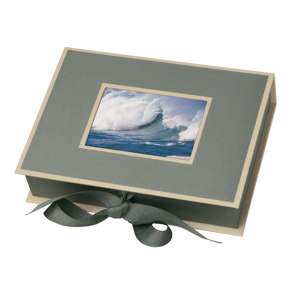 Semikolon Small Photo Box, Ribbon Tie Closure, Grey (31515)