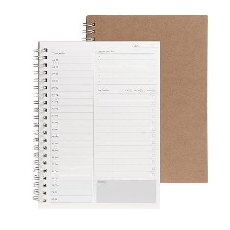 Dabixx Planner Book Monthly Agenda Diaria semanal Schedule Agenda en Blanco Notebook DIY Study - Diario