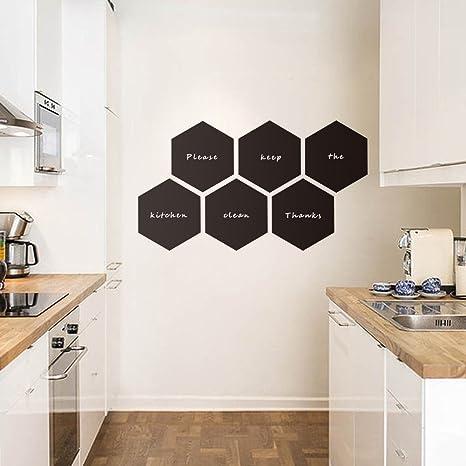 ASENART Moda diseñado Pizarra Hexagonal Color Negro Pared ...